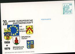 Bund PP103 C2/004 STADTWAPPEN GROSS-GERAU TIELT BRUNECK BRIGNOLES 1979 - Privé Postkaarten - Ongebruikt