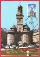 Carte Maximum 1967 - Vire - La Porte Horloge - YT 1500 - 14 Vire - Maximum Cards