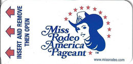 Miss Rodeo America Pageant - Las Vegas Hotel Room Key Card - Cartas De Hotels