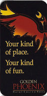 Golden Phoenix Casino - Reno NV - Hotel Room Key Card - Cartas De Hotels