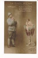 Carte Surréalisme ( Montage )  La Carte Des Vins Le Bourgogne ( Militaire + Femme Dans Un Verre De Vin ) - Patriotiques