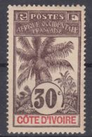 Ivory Coast Côte D'Ivoire 1906 Yvert#28 Mint Hinged - Ivory Coast (1892-1944)