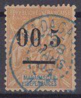 Madagascar 1902 Yvert#52 D Used, Error - Virgule Mal Placee - Madagascar (1889-1960)