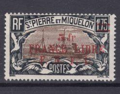 St. Pierre & Miquelon 1941 FRANCE LIBRE Mi#248 Mint Hinged - St.Pierre & Miquelon