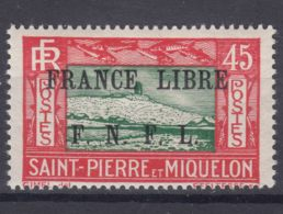 St. Pierre & Miquelon 1941 FRANCE LIBRE Mi#241 Mint Hinged, Signed - St.Pierre & Miquelon