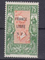 St. Pierre & Miquelon 1942 FRANCE LIBRE Mi#289 Mint Hinged - Neufs
