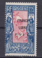 St. Pierre & Miquelon 1942 FRANCE LIBRE Mi#290 Mint Hinged - Neufs