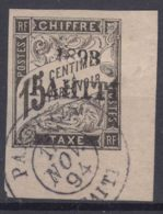 Tahiti 1893 Timbre Taxe Yvert#20 Used, Expert Mark - Used Stamps