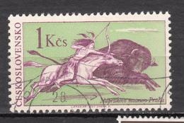 Tchekoslovaquie, Tir à L'arc, Archery, Bison, Buffalo, Chasse, Hunting, Indiens D'amérique, Amérindien, Cheval - Tiro Al Arco