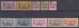 Wallis And Futuna 1924 Yvert#30-39 Mint Hinged - Unused Stamps
