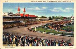 Kentucky Louisville Churchill Downs Home Of The Kentucky Derby Curteich - Louisville