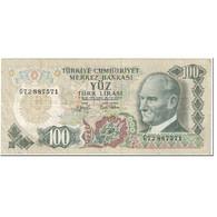Billet, Turquie, 100 Lira, 1972, 15.5.1972-Old Date (1970-10-14), KM:189a, TB - Turchia