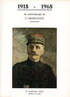 """"""" 50 ANS DE L'ARMISTICE """" Sur Encart 1° Jour De 4 Pages. Parfait état. FDC - WW1"""