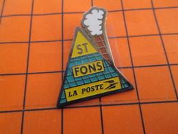 616b Pin's Pins / Beau Et Rare  / THEME : POSTES /  LA POSTE ST FONS TOIT CHEMINEE FUMEE - Poste