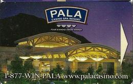 Pala Casino - Pala CA - Hotel Room Key Card - Hotel Keycards