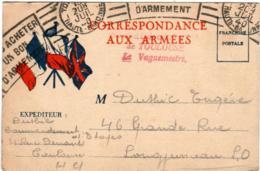 6EKS 348 CPA - CORRESPONDANCE AUX ARMEES - Guerre 1939-45