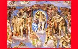 Nuovo - MNH - VATICANO - 2019 - 25 Anni Del Restauro Della Cappella Sistina - Giudizio Universale - 0,25 × 2 + 1,10 - Blocs & Hojas
