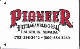 Pioneer Hotel & Gambling Hall / Casino - Laughlin NV - Hotel Room Key Card - Hotel Keycards