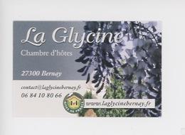 Bernay : La Glycine, Chambre D'hôtes, Rue Alexandre (carte Visite) - Bernay