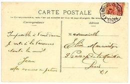 SEINE SEINE ET MARNE CP 1905 PARIS A VERNEUIL-CHAUMES CONVOYEUR - Poststempel (Briefe)