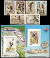 ** El Salvador - 1989 - Olympic Games 1992 - Mi. 1741-6, Bl. 40-1 - Sommer 1992: Barcelone