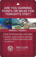Red Lion Hotel & Casino - Elko NV - Hotel Room Key Card - Hotel Keycards