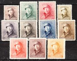 165/75  Roi Albert Casqué - Bonnes Valeurs - MNG - LOOK!!!! - 1919-1920 Roi Casqué