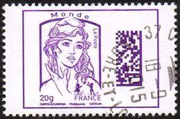 Oblitération Cachet à Date Sur Timbre De France N° 4976 - Marianne De Ciappa Et Kawena Datamatrix Monde - Oblitérés