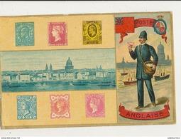 TIMBRES POSTE ANGLAISE CPA BON ETAT - Briefmarken (Abbildungen)