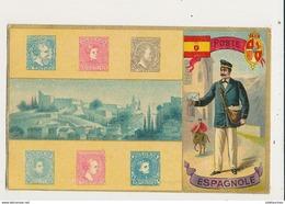 TIMBRES POSTE ESPAGNOLE CPA BON ETAT - Briefmarken (Abbildungen)