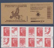 N° 1516 Carnet Présidence Française Union Européenne Auto Adhésif   Faciale 0,55 € X 6 + LP X 6 Avec Date - Markenheftchen