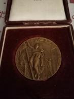 A1: Médaille Des Sapeurs Pompiers Concours Interdépartemental De CHARBONNIÈRE 5 JUIN 1927 DANS SA BOÎTE - Autres Collections