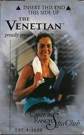The Venetian Casino - Las Vegas NV - Hotel Room Key Card - Hotel Keycards