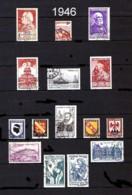 FRANCE - Année Complète 1946 - N° 748 à 771 - Oblitérés - Très Beaux - Francia