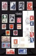 FRANCE - Année Complète 1949 - N° 823 à 862 - Oblitérés - Très Beaux - Francia