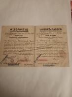 AUSWEIS DE LA VILLE DE CAEN POUR LE DÉBLAIEMENT - 1939-45