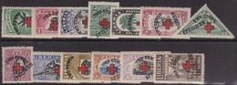 "Liberia 1918 ""TWO CENTS"" Red Cross Overprint Sc B 3-15 Mint Hinged SPECIMEN - Liberia"