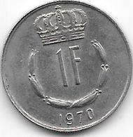 LUXEMBOURG - 1 Franc 1970 - Luxembourg
