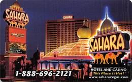 Phone Card From The Sahara Casino In Las Vegas, NV - Tarjetas De Casino