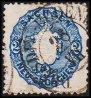 1863-1867. SACHSEN. Staatswappen. 2 NEU GROSCHEN.  () - JF319964 - Sachsen