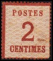 1870. NORDDEUTSCHER POSTBEZIRK. OKKUPATIONSGEBIETE. POSTES  2 CENTIMES. Defect. (Michel 2 I) - JF320037 - North German Conf.