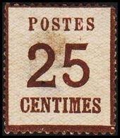 1870. NORDDEUTSCHER POSTBEZIRK. OKKUPATIONSGEBIETE. POSTES  25 CENTIMES. Thin/Dünn/Ty... (Michel 7 I) - JF320042 - North German Conf.