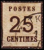 1870. NORDDEUTSCHER POSTBEZIRK. OKKUPATIONSGEBIETE. POSTES  25 CENTIMES. Thin/Dünn/Ty... (Michel 7 I) - JF320043 - North German Conf.