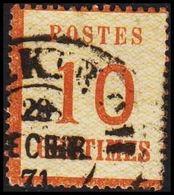 1870. NORDDEUTSCHER POSTBEZIRK. OKKUPATIONSGEBIETE. POSTES  10 CENTIMES.  (Michel 5 I) - JF320045 - North German Conf.