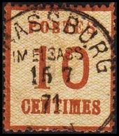 1870. NORDDEUTSCHER POSTBEZIRK. OKKUPATIONSGEBIETE. POSTES  10 CENTIMES. STRASSBURG I... (Michel 5 I) - JF320047 - North German Conf.