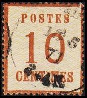 1870. NORDDEUTSCHER POSTBEZIRK. OKKUPATIONSGEBIETE. POSTES  10 CENTIMES.  Thin/Dünn/T... (Michel 5 I) - JF320048 - North German Conf.