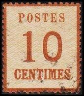 1870. NORDDEUTSCHER POSTBEZIRK. OKKUPATIONSGEBIETE. POSTES  10 CENTIMES.  (Michel 5 II) - JF320050 - North German Conf.