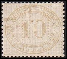 1872. DEUTSCHE REICHS-POST. 10 GROSCHEN. (Michel 12) - JF320057 - Allemagne