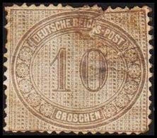 1872. DEUTSCHE REICHS-POST. 10 GROSCHEN. Defect. (Michel 12) - JF320058 - Allemagne