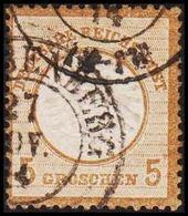 1872. DEUTSCHE REICHS-POST. Grossem Brustschild 5 GROSCHEN  (Michel 22) - JF320077 - Oblitérés